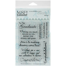 """""""My Sentiments Exactly Clear Stamps 4""""""""X6"""""""" Sheet-Graduation"""""""