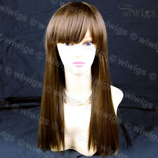 Wiwigs Long Straight Sexy Chestnut Brown Skin Top Heat Resistant Ladies Wig