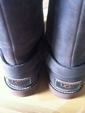 Ugg Ladies Noira Boots In Brown Leather Uk 3.5 EU 36 New With Shop Soiling
