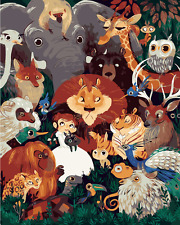 """16X20"""" Paint By Number Kit DIY Acrylic Painting on Canvas Animals 1249"""