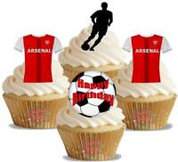 Novelty Arsenal Football Mix Happy Birthday New Edible Cake Toppers Decorations