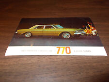 1963 Rambler Classic 770 4-Door Sedan Vintage Advertising Postcard