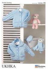Double Knitting Pattern Cardigans Scarf Mittens Wool Newborn-24 Months UKHKA86