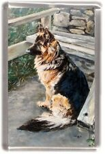 German Shepherd Dog/Alsatian Fridge Magnet by Starprint
