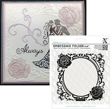 ROSES FRAME embossing Xcut folder Elegant circle wedding Cuttlebug Compatible