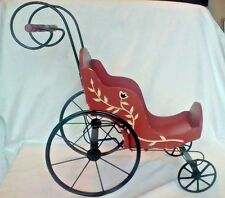 Vintage Large Wooden & Metal Christmas Mornin' Sleigh