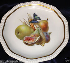 """ROSENTHAL BAVARIA MODELL THEO R1400 7 7/8"""" SALAD PLATE FRUIT WITH BUTTERFLY"""