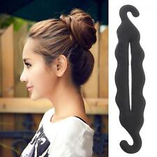 Bun Maker Updo Tool Donut Hair Twist Foam Sponge Styling Clip