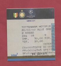Orig.Ticket   Champions League  10/11   INTER MAILAND - TOTTENHAM HOTSPUR  !!