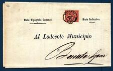 ITALIA - Regno - 1871 - Da Bergamo a Bonate - 2 c. - Cifra con ornamenti in