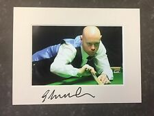 An 8 x 6 inch mount with photo signed by Snooker Player Gary Wilson. (1).