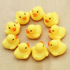 10 pcs Baby Kids Children Bath Shower Toys Cute Rubber Squeaky Duck Ducky Yellow