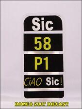 1:12 Pit board - pitboards Marco Simoncelli 58 Ciao Sic no minichamps RARE