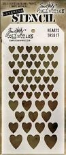 Tim Holtz Stampers Anonymous HEARTS Stencil  THS018 new