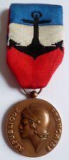 Médaille d'Honneur Marine Nationale BRONZE attribuée 1990 ORIGINAL French medal