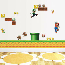 Huge Super Mario Bros Removable Wall Sticker Decals Kids Nursery Decor