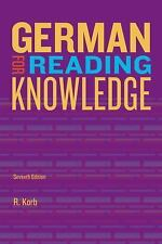 World Languages: German for Reading Knowledge by Richard Alan Korb (2013,...