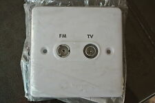 legrand Synergy 7300 42 Screened Combined TV/FM socket in white