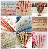 fat quarter bundles 100% cotton fabric vintage florals  Rose & Hubble free P&P