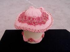 "STEPPIN OUT BY S.S. SARNA ""ROSE GARDEN"" HAT TRINKET BOX"