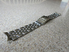 Unbranded Polished Stainless Steel Solid Link 22mm Curved End Watch Band N12
