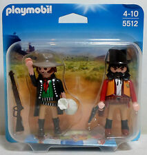 GEOBRA PLAYMOBIL 2013 WESTERN # 5512 SHERIFF & OUTLAW DUO PACK SET SEALED