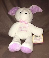 Carter's Just One Year MY FIRST BUNNY White Plush Rabbit Purple Flower Ears NEW