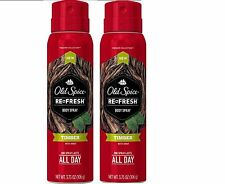 *2PK*Old Spice Refresh Men's Body Spray Fresher Collection, Timber - 3.75 oz