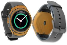 Skinomi Gold Carbon Fiber Skin+Screen Protector for Samsung Gear S2 Watch 42mm