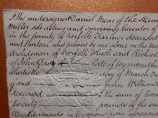 1836 Document of Settlement of The Will John Davy Butcher of Wymondham, Norfolk
