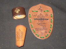 Canada Wood Badge leather Gilwell and 2 other Neckerchief Slides      INT