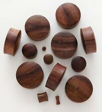 "1 Pair 3/4"" 19mm Dark Brown Sono Organic Solid Wood Saddle Ear Plugs Gauges 635"
