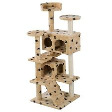 New Cat Tree Tower Condo Furniture Scratch Post Pet Kitten House Play Castle H2