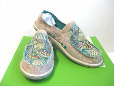 Sanuk Scribble Teal Muiti Women Shoes US11/UK9/UK42