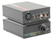 Hall Research HR-101-S Compact XLR Microphone Amplifier +Stereo Line Level Mixer