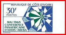 IVORY COAST 1963 AFRICAN UNION imperforated SC#200 large MARGIN MNH