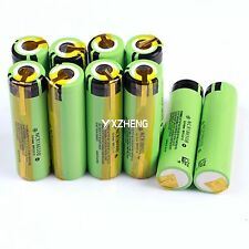 10PCS Panasonic NCR18650B with Tabs 3.7V 3400mAh Rechargeable Li-ion  Battery