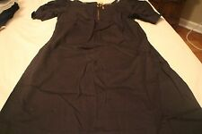 BLACK LAROK WOMENS CUT OUT FRONT KEYHOLE PATENT TRIM EXPOSED ZIPPER DRESS SZ 8