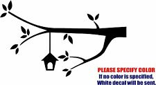 Vinyl Decal Sticker - Tree Branch Bird House Car Truck Bumper Laptop JDM Fun 12""