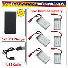 6x 3.7V 800mAh Battery&6in1 Charger Set for JXD 509 509G 509W 510G  RC Cam Drone
