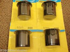 """DRINK HOLDERS SEACHOICE 4 PAC BLACK 79481 3"""" HOLE PLASTIC BOATING CUP HOLDER"""