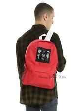 21 Twenty One Pilots Red Blurryface Band Logo School Backpack Book Bag Day Pack