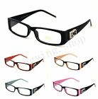 DG Clear Lens Rectangular Frames Glasses Designer Optical RX Womens Mens (225)