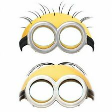 Despicable Me Minions Paper Masks Party Favors 6 Pack - Birthday Party Supplies