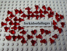 50 Lego Jewels/Gems/Crystals Translucent Red Ruby Stones Pirate Minifig Treasure