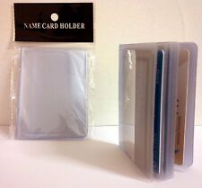 LOT OF 4 16-PAGE CREDIT CARD HOLDER PLASTIC CLEAR WALLET PHOTO INSERTS 17914