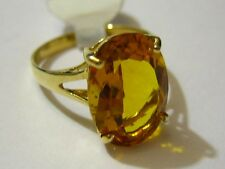 New 14k Solid Yellow Gold Y/G Citrine Ring, 10*14mm, Oval, SZ-7, NWT