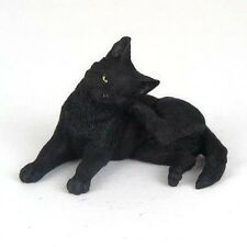 "Black Cat - Rear Foot Scratching Ear - Figurine Miniature 3""L New in Box"
