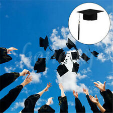 Black Mortar Board Hat Adults Teacher Student College Graduation Cap Fancy Dress