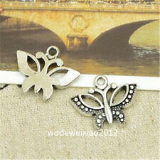 15pc Retro Tibetan Silver butterfly Charm Bead Pendant Wholesale JP760
